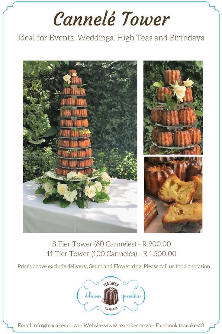 Cannele Tower Tea Cakes website